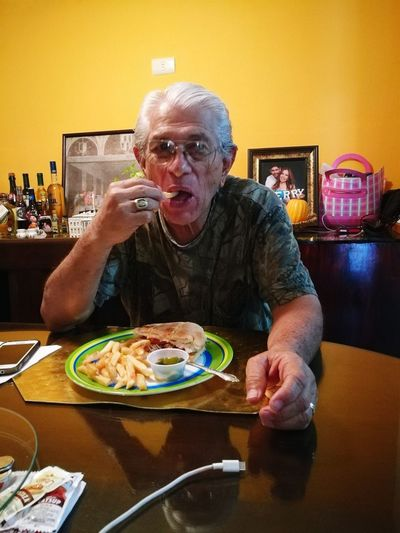 EyeEm Selects Only Men Table One Man Only Adults Only Indoors  Plate Mature Adult Adult Portrait Looking At Camera One Person Gray Hair Senior Adult Food People One Senior Man Only Eyeglasses  Ready-to-eat Day