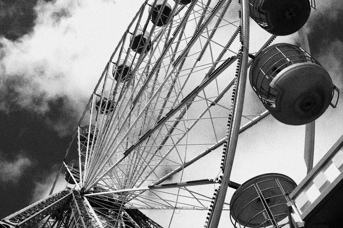 The Big Wheel on the Blackpool Central Pier Seaside Black And White B&w Photography