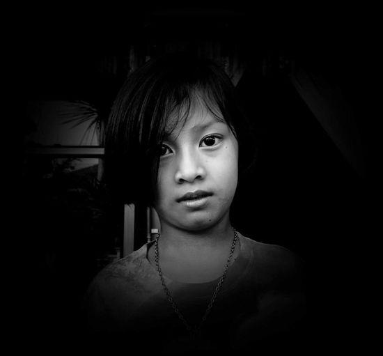 My name is Aom amp EyeEm Best Shots Nakhon Si Thammarat Portrait Blackandwhite Children Monochrome Thailand My Best Photo 2014 Model People