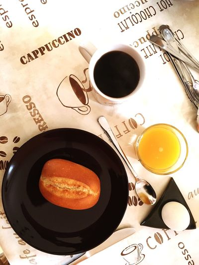Food And Drink Drink Refreshment Freshness Directly Above Coffee Cup Still Life Close-up High Angle View Indoors  Coffee - Drink Healthy Eating Heat - Temperature Food Hot Drink Non-alcoholic Beverage Tea Overhead View Ready-to-eat Black Tea Breakfast Kaffee Egg Orangensaft Saft