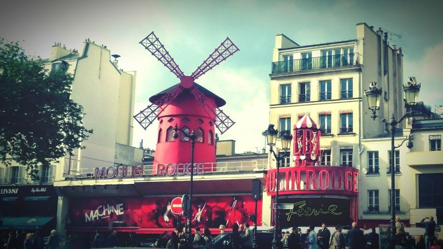 Paris Moulin Rouge Pigalle Cabaret Red Windmill Windmill Paris Icon Boulevard De Clichy