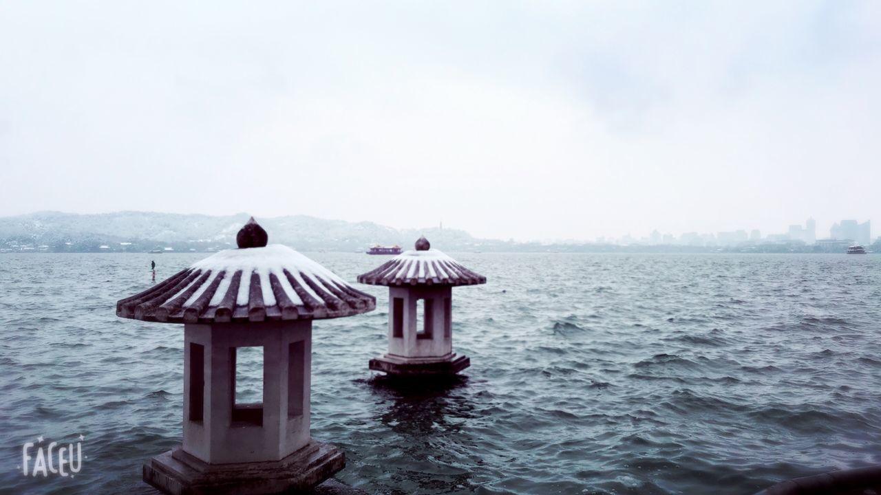 LIFEGUARD HUT AGAINST SEA