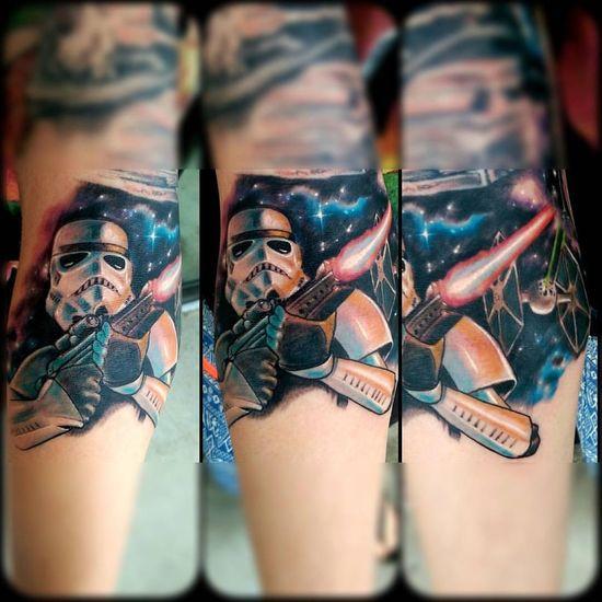 Stormtrooper Starwars Tattoo Mrttattoo Fullcustomtattoo Torstenmatthes Check This Out Tattooartist  Customdesign