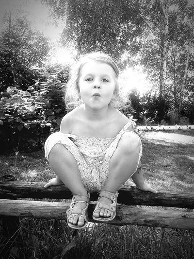 Littlecousin Summertime Portrait People Closetonature Enjoyeverymoment Monochrome Blackandwhite Black And White Kids