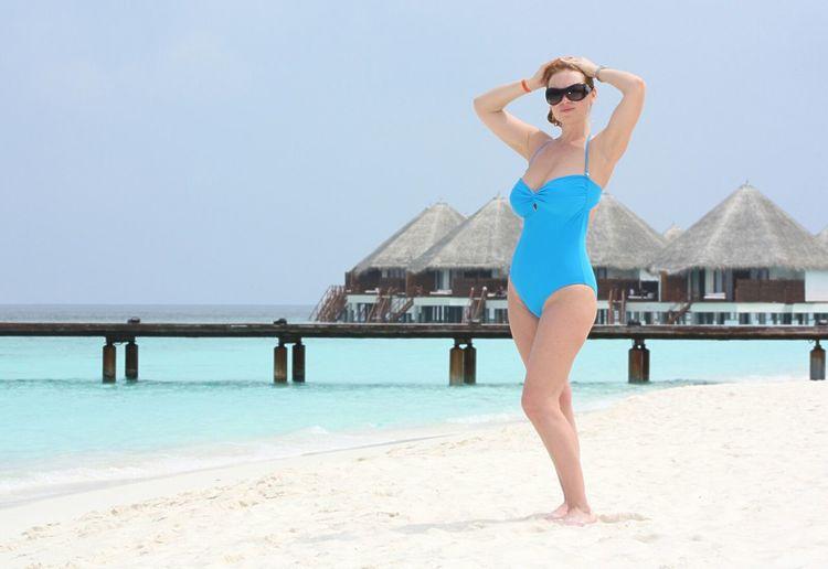 Maldives Sunbathing Girl Beautiful Surroundings Beachphotography Beach Day Beachlife Sea And Sky Sand Bikini