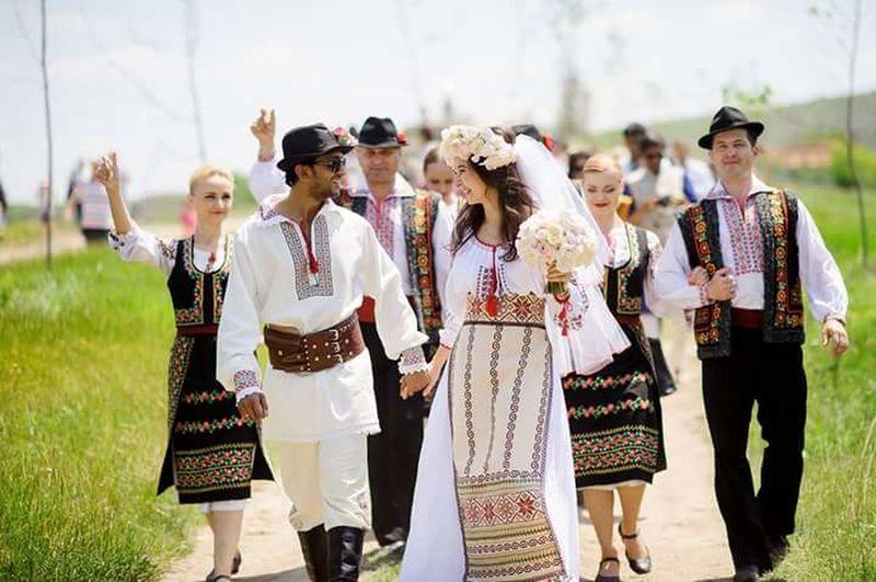 National Wedding National Dress Happiness Moldoviangirl Republic Of Moldova