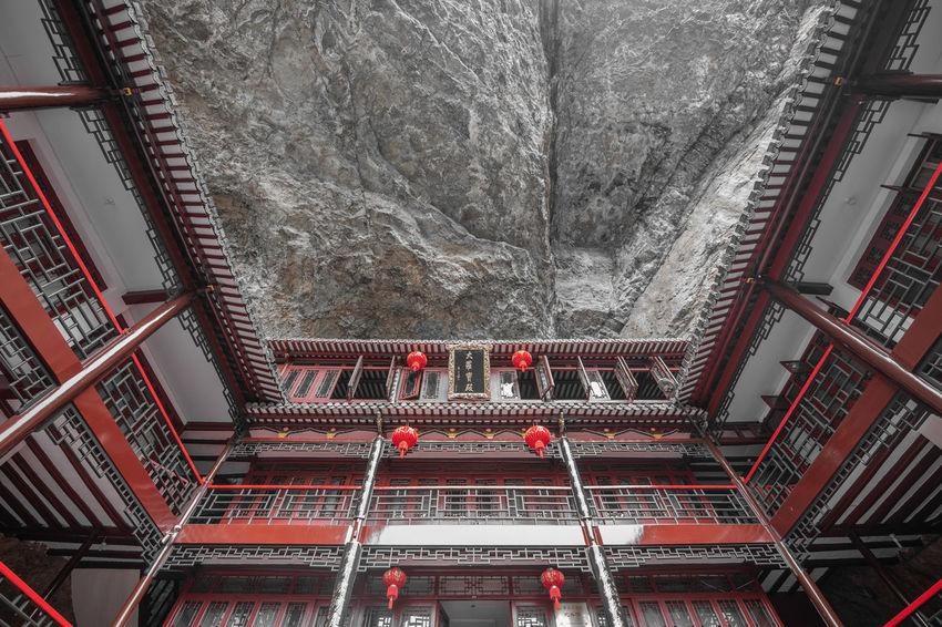 Ziseetheworld Ziwang Chinese Buddha Temple Buddhism Forest Mountainpeak Jiuhuashan Mountain China Zhejiang,China Lantern Chinese Lantern Layers Tower Guesthouse Rocky Mountains