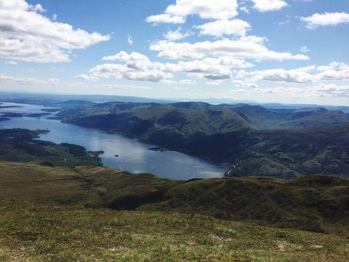 Visited beautiful Ben Lomond a few months back. Mountain Water Tranquil Scene Landscape Sky Cloud Nature First Eyeem Photo