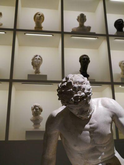 Statue Bust  HEAD Roman Greek Oops I Forgot Museum Gallery Stone Marble