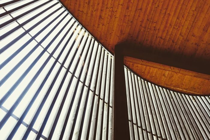 Lines Repetition Memorial Wood Sunlight Modernarchitecture Woodenstructure Full Frame Architecture Close-up Built Structure Building Exterior Architectural Design Architectural Detail Round Ceiling Circular Architectural Feature LINE Pattern Architecture And Art