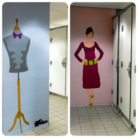 klo-kunst Toilette Art WC Art Aeroport Charles De Gaulle Mr Men And Little Miss