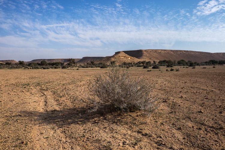 Idyllic Shot Of Desert Landscape Against Sky