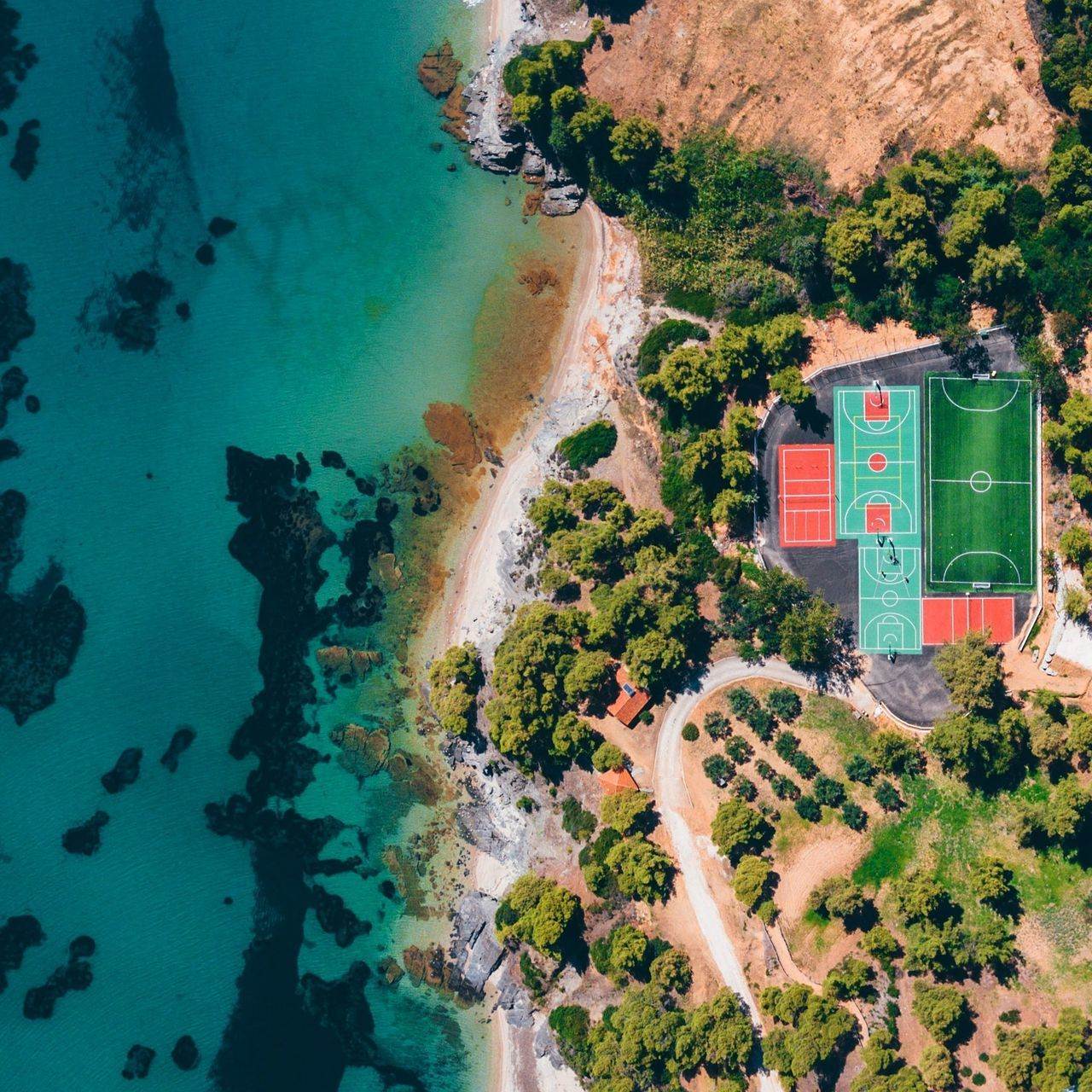 Aerial View,  Architecture,  Beach,  Beauty In Nature,  Built Structure
