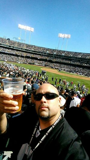 That's Me! Enjoying Life Taking Pictures at a Raiders Game.