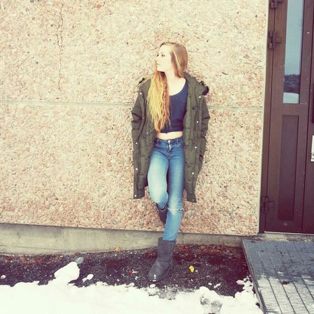 Street Fashion Norwegian Winter Self Portrait Getting Inspired todays outfit