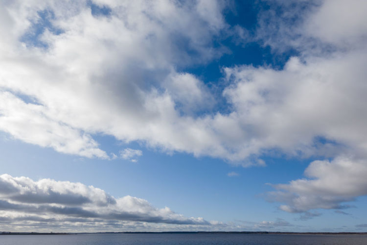 Low angle view of sea against sky