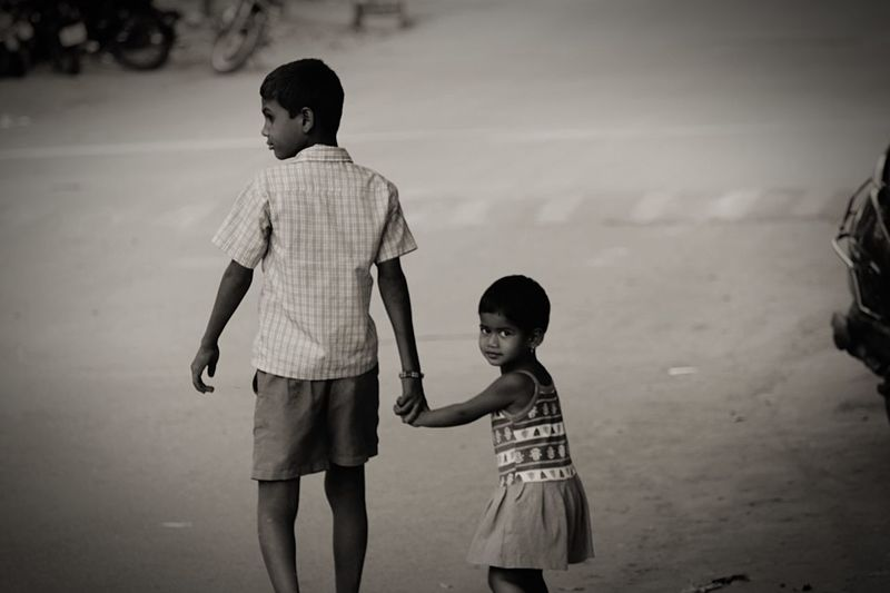 Childhood Full Length Three Quarter Length Real People Brother Brother & Sister Canonphotography Potrait EyeEm Best Shots Natgeoyourshot Two PeopleeBabyyStandinggLeisure ActivityyBondinggTogethernesssOutdoorssBabyhooddSkyyDayy Long Goodbye Long Goodbye