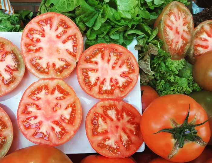 Tomato Vegetable Nature Red SPAIN Food Letuce Healthy Eating Food And Drink No People High Angle View Freshness Food Red Nature