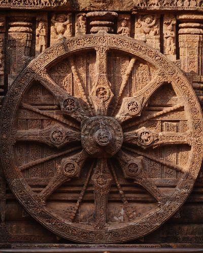 Ancient clock Clock Ancient Clock Exact Time Sun Temple Konark, Orissa Pattern No People Indoors  Close-up Full Frame Day Symmetry