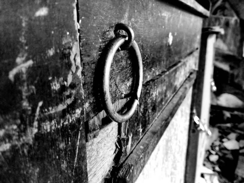 Abandoned Close-up TakenOnPhone Door Metal No People Wood - Material Outdoors Day Latch
