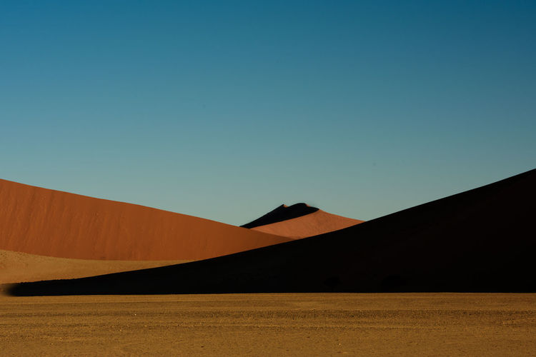 Blue Day Desert EyeEm Landscape Heat - Temperature Landscape Landscape_Collection Landscape_photography Lines & Curves Lines And Angles Lines, Shapes And Curves Namib Desert Namib Dunes Namibia Nature No People Sand Dune