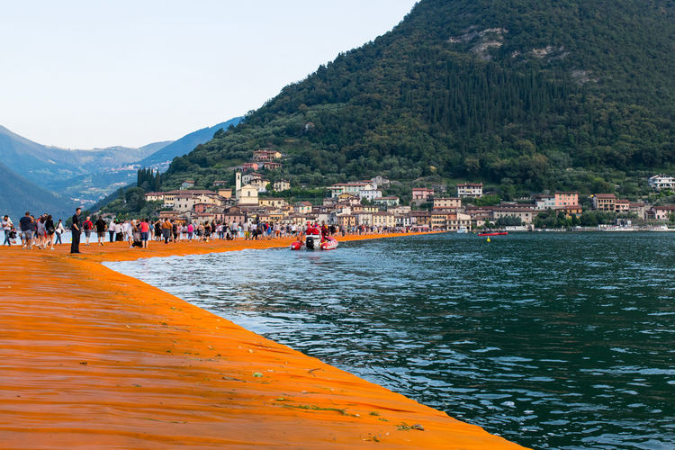 Short trip to Italy ... 1807km in 25 h ArtWork Christo Day Floating Piers Installation Art Italy Kunst Landscape Nikonphotography Outdoors The Great Outdoors - 2016 EyeEm Awards The Week Of Eyeem Travel Destinations Water Weekend Activities