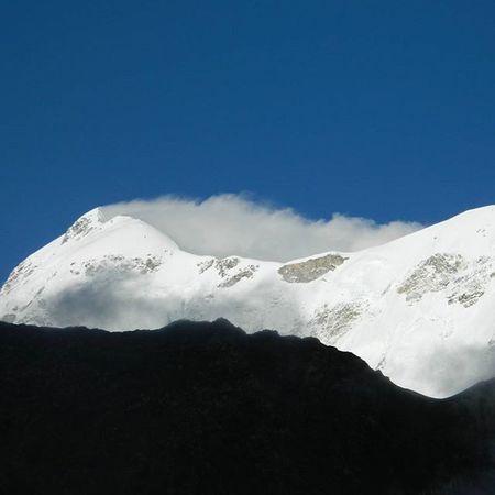 View of Trishul from Bhagwabasa. Trishul Roopkund HimalayanDrifters Trekking