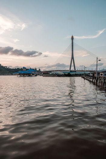 Soothing sunset by the RIPAS Bridge. Xt20 Fujifilm Watervillage Kampong Ayer Bandar Seri Begawan Brunei