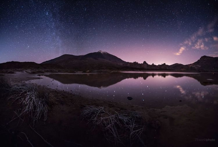 Magical night! Colors Sky EyeEm Best Shots EyeEmNewHere EyeEm Nature Lover Eye4photography  Nature Tranquility Reflection Cloud - Sky Nikon Photography Canary Islands EyeEm Gallery Adventure Star Trail Firework - Man Made Object Infinity Star Astrology The Great Outdoors - 2018 EyeEm Awards Capture Tomorrow