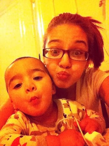 Lol me and my lil man acting silly