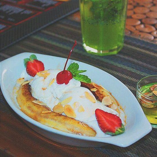 Banana split time ♥ Banana Ice Cream Sweet♡ Eye Em Food