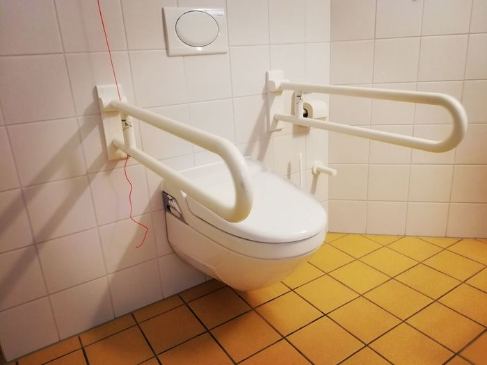 High Angle View Of Toilet Seat