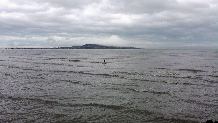 Calm Cloudy Horizon Over Water Idyllic Outdoors Paddling Scenics Sea Seascape Shore Tranquil Scene