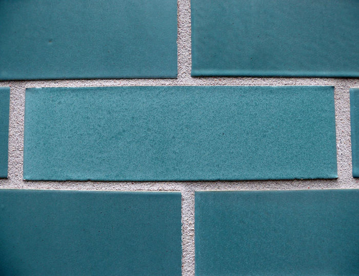 Full Frame Shot Of Turquoise Wall