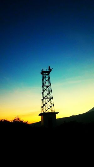 Silhouette Blue Technology Sunset Sky Dusk Outdoors No People Nature Landscape Night Clear Sky Architecture Drilling Rig Oil Pump