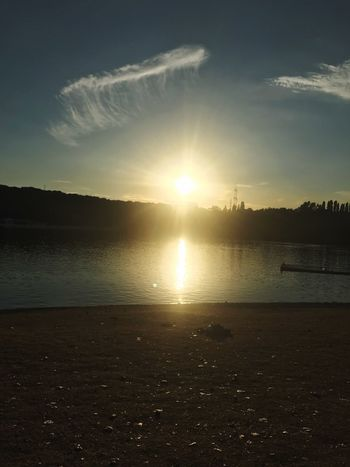 Summer day☀️ Der Moment Genießen Entspannung Relaxen Gute Laune Sommertag See Wasser Meer Sonne Sky Water Sunlight Scenics - Nature Beauty In Nature Tranquil Scene Sunset Sun