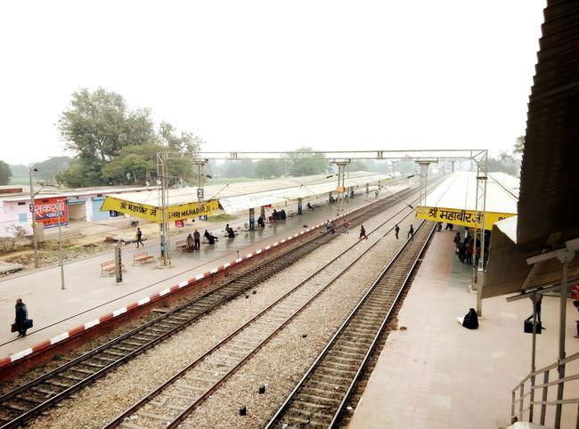 The Journey Is The Destination Railwaystation Life Rail India Rajasthan Colors Of Life Rural Journey Trains Transport Traveling Platform Passenger Mahaveer Ji, Rajasthan, India.