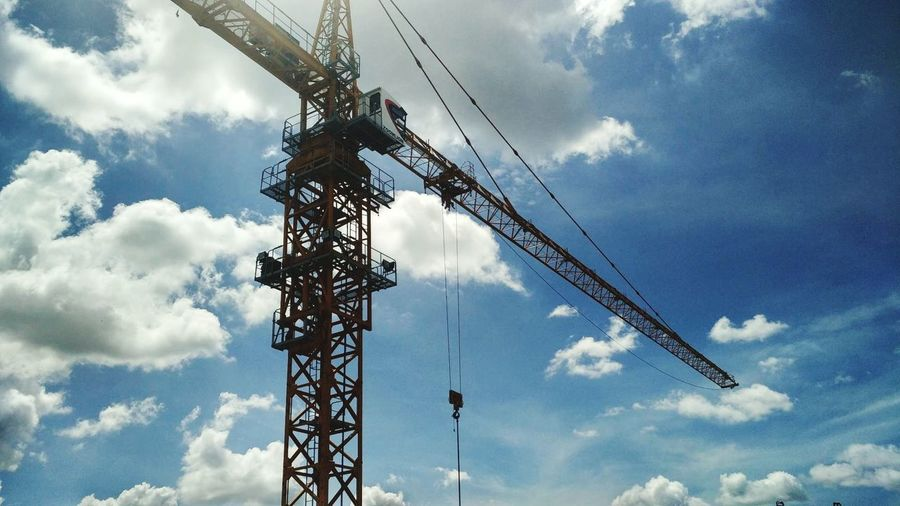 Business Finance And Industry Cloud - Sky Construction Site Crane - Construction Machinery Industry Construction Machinery Sky Cable No People Working Technology Girder Day Outdoors Golf Club