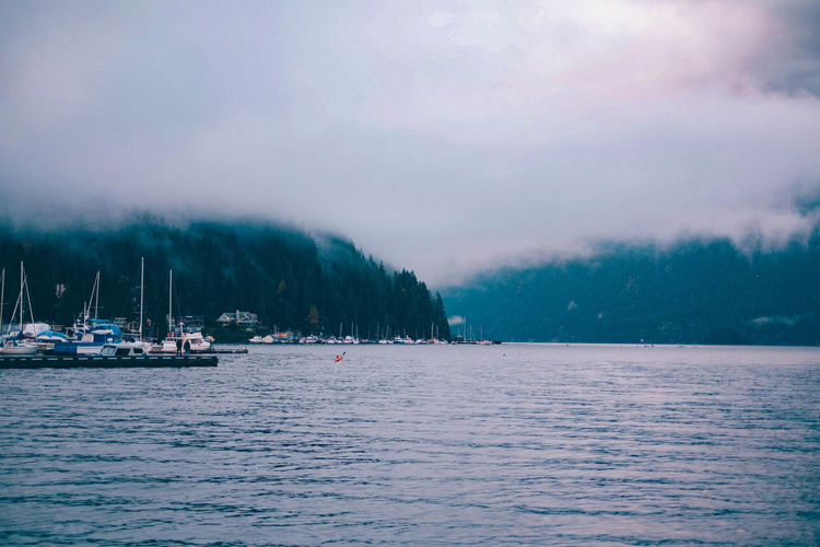 Scenic View Of Sea During Foggy Weather