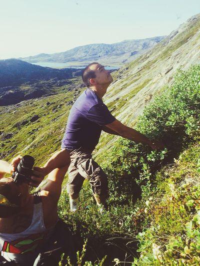 Photoshoot Greenland Mountains Steep Hill Friends Dangerous Qaqqarsuattaa Ilulissat Taking A Break Gunberg Amos