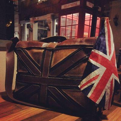 Go Britain British Cafesurabaya Leather flag leatherbag