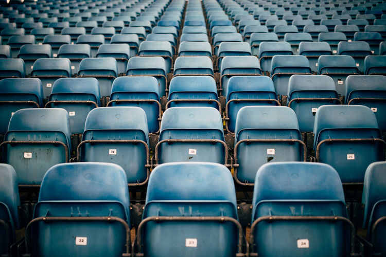 Abundance Arrangement Audience Backgrounds Empty Empty Places Full Frame In A Row Modern No People Repetition Seat Seats Side By Side
