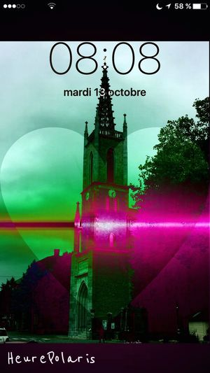 08H08 💜💫🙏😚☀️ Hello World Bonjour HEURE POLARIS Heure Hour Time Spiritual Spirituel Eglise Religion