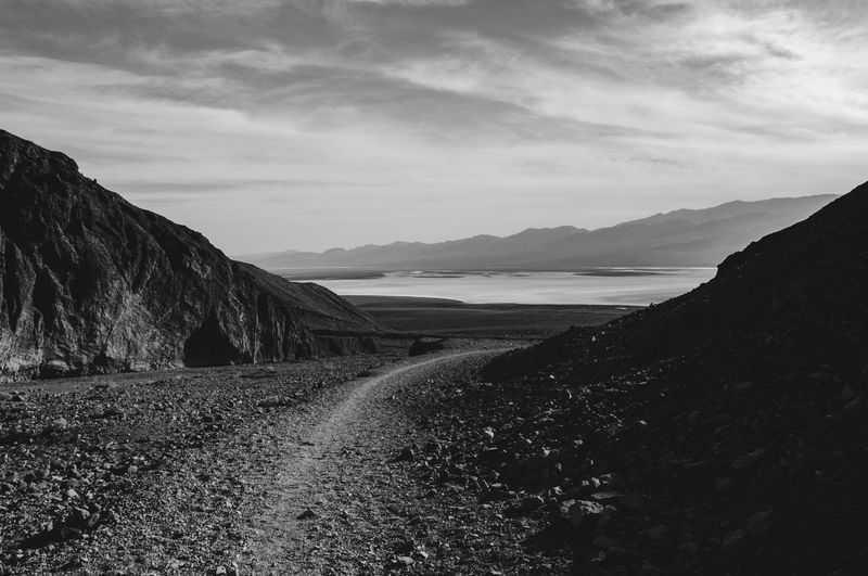 Bad Water Beauty In Nature Blackandwhite California Death Valley Death Valley National Park Horizontal Nature No People Outdoors Scenics Sky Tranquil Scene Tranquility