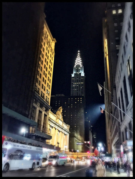 Grand Central Station Chrysler Building 42nd Street, NYC Madison Avenue Nightphotography Concrete Jungle New York New York City Streetphotography Street Photography Crysler Building Manhattan Night Photography IPhoneography Grand Central Terminal Grand Central Terminal NYC