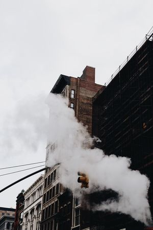 Architecture Built Structure Building Exterior Smoke - Physical Structure Day Outdoors Sky No People City