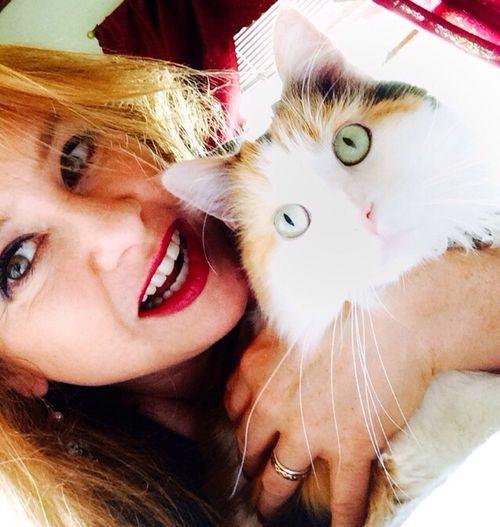 Shameless October Selfie with Lila the Wonder Cat. Selfie Cat