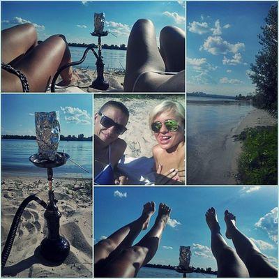 Продолжаем отдыхать..юх.у.у.у.у...!!!! пляж кальян днепр понедльник выходной отдых позитив вода загараем музыка релакс ноги киев красота