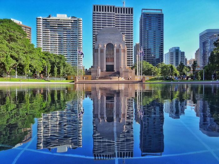 Anzac Memorial, Sydney Reflection Reflecting Pool Symmetry EyEmNewHere
