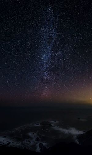 Starry night over CA Coastline Highway 1 California Milky Way Astrophotography Landscape Nature EyeEmNewHere Night Star - Space Space Astronomy Sky Water Scenics - Nature Beauty In Nature Star Field Sea Star Galaxy Science Nature Land Beach Space And Astronomy Constellation Tranquility No People Space Exploration Tranquility My Best Photo